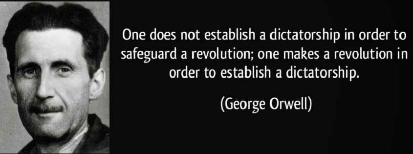 george orwell establish dictatorship
